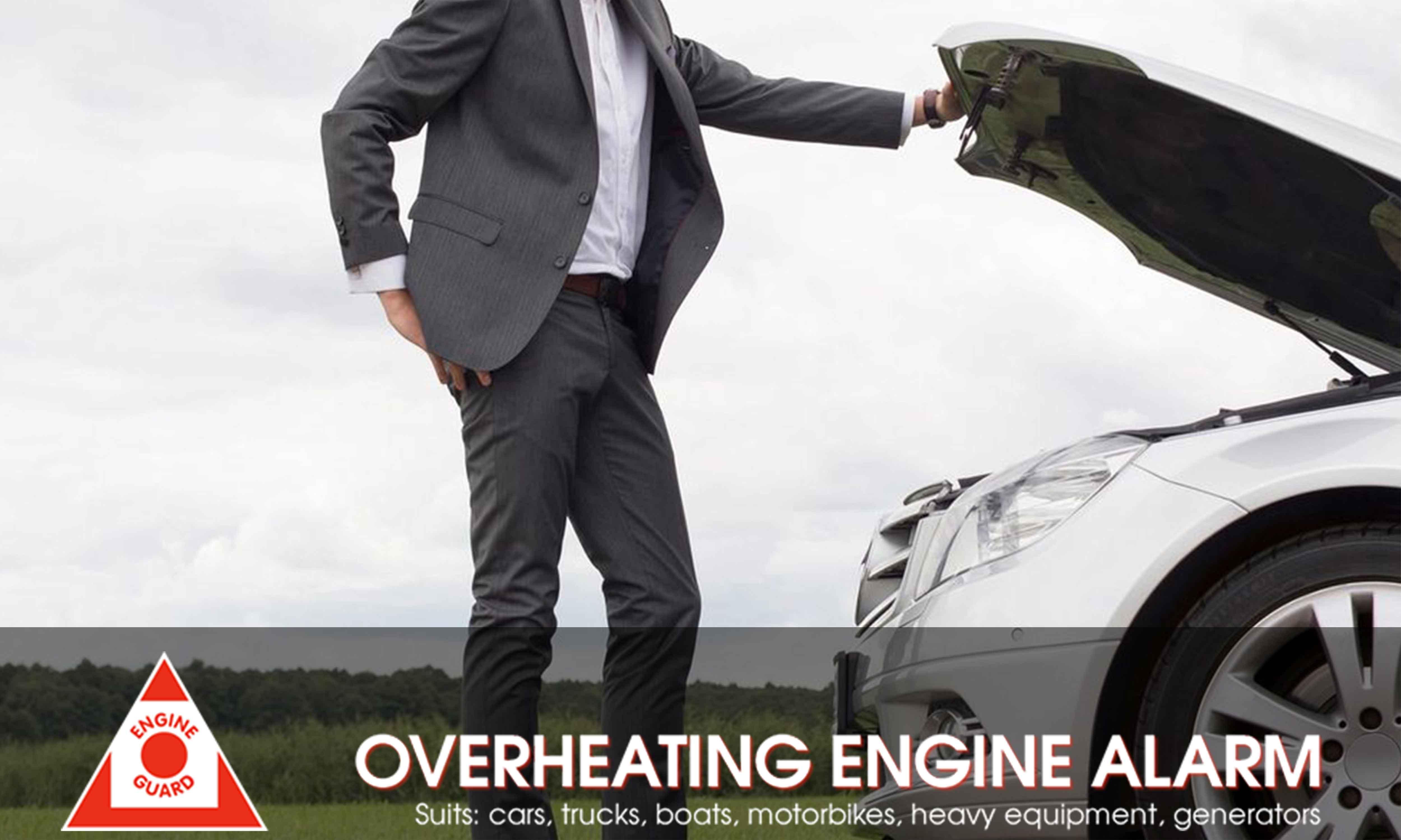 CAR OVERHEATING ALARM with DIGITAL DISPLAY Engine Guard EG01//1 BOLT-ON SENSOR